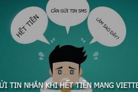 Tài khoản Viettel hết tiền vẫn có thể gửi SMS miễn phí
