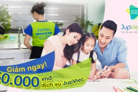 GIẢM LIỀN TAY 50.000 VNĐ CHO DỊCH VỤ JUPVIEC VỚI VIETTELPAY