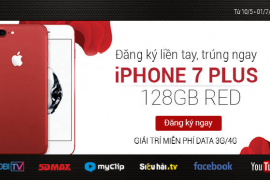 Giải trí thỏa thích trên điện thoại không lo tốn dung lượng còn trúng ngay Iphone 7