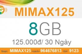 Nhận ngay 8GB data 3G với 125.000/tháng khi đăng ký gói MIMAX125 Viettel