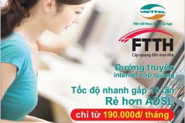 Chương trình khuyến mại cáp quang Viettel TP. Hồ Chí Minh