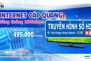 Combo cáp quang + THS FTTH 100Mbs